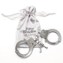 Load image into Gallery viewer, Fifty Shades of Grey You Are Mine Metal Handcuffs