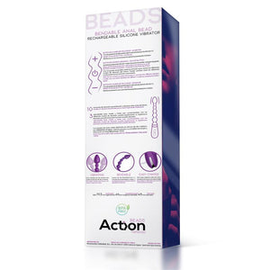 No. Five Bendable Anal Beads and Vibrator USB Silicone