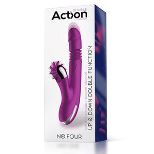 No. Four Up and Down Vibrator with Rotating Wheel USB Silicone