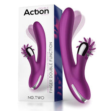 Load image into Gallery viewer, No. Two Finger Vibrator with Rotating Wheel USB Silicone