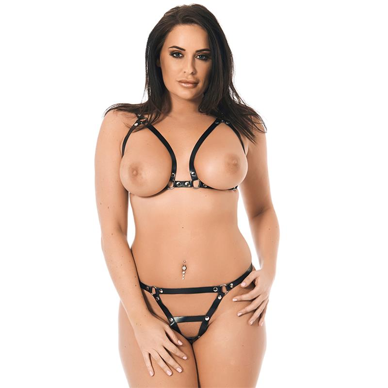 Open Leather Bikini Adjustable