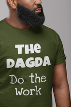 Load image into Gallery viewer, The Dagda: Do the Work - Forest, Leaf & Olive Green -  Unisex Short Sleeve Jersey T-Shirt - Eel & Otter