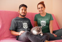 Load image into Gallery viewer, Cat Sidhe King of the Cats - Short-Sleeve Unisex T-Shirt - Black, Navy, Army - Eel & Otter