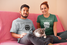 Load image into Gallery viewer, Cat Sidhe - Queen of the Cats - Short-Sleeve Unisex T-Shirt Red, Brown, Forest Green - Eel & Otter