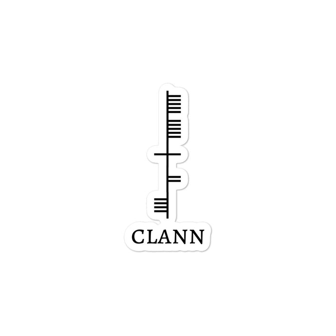 Ogham Series - Clann - Family - Bubble-free stickers - Eel & Otter