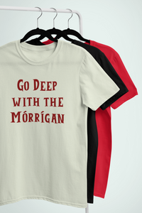 Go Deep with the Mórrígan - Ash, Silver & Cream - Unisex Short Sleeve Jersey T-Shirt - Eel & Otter