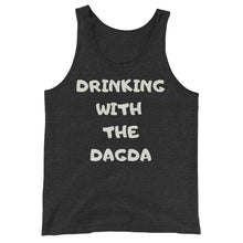 Load image into Gallery viewer, Drinking with the Dagda - Black, Charcoal - Unisex Tank Top - Eel & Otter