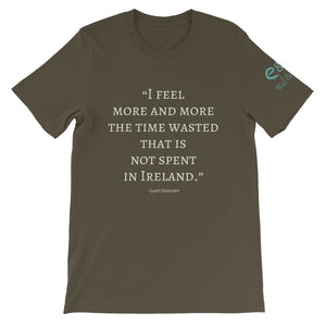 The Time Wasted, That is not Spent in Ireland - Short-Sleeve Unisex T-Shirt - Black, Army, Navy, - Eel & Otter