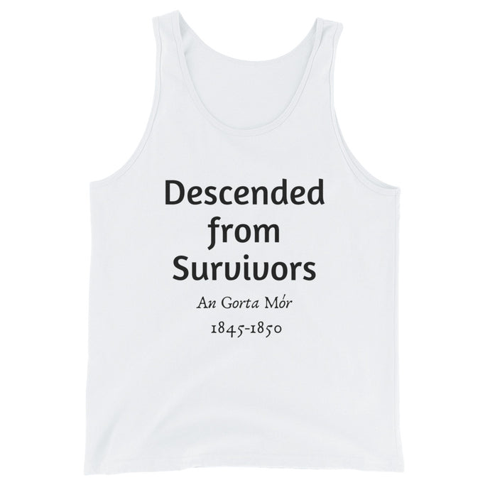 Descended From Survivors - White - Unisex Tank Top - Eel & Otter