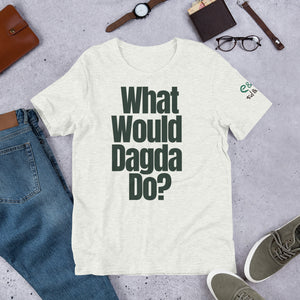 What Would Dagda Do? White, Ash & Cream - Unisex Short Sleeve Jersey T-Shirt - Eel & Otter