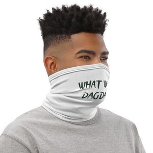 What Would Dagda Do? Face Shield - Neck Gaiter - White - Eel & Otter