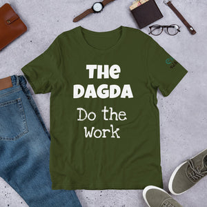 The Dagda: Do the Work - Forest, Leaf & Olive Green -  Unisex Short Sleeve Jersey T-Shirt - Eel & Otter