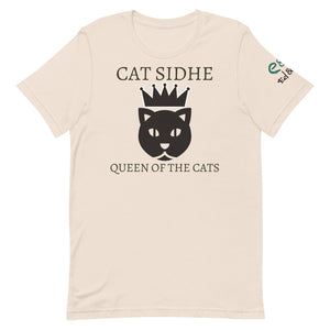 Cat Sidhe - Queen of the Cats - Short-Sleeve Unisex T-Shirt Soft Cream, Ash, Ocean Blue - Eel & Otter