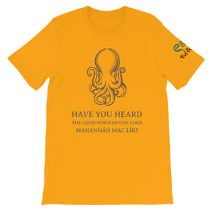 Manannán Missionary - White, Ash, Gold, - Short-Sleeve Unisex T-Shirt - Eel & Otter