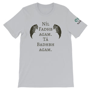 The Badb, or Badhbh - Ash, Silver & Cream - Unisex Short Sleeve Jersey T-Shirt - Eel & Otter