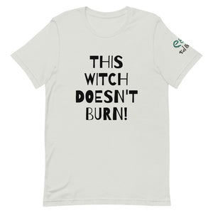 This Witch Doesn't Burn! - Short-Sleeve Unisex T-Shirt Silver, Pink, Steel Blue - Eel & Otter