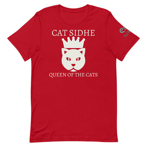 Cat Sidhe - Queen of the Cats - Short-Sleeve Unisex T-Shirt Red, Brown, Forest Green - Eel & Otter