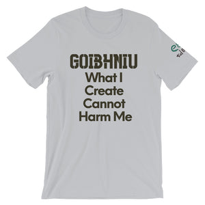 Goibhniu: What I Create - White, Silver & Yellow - Unisex Short Sleeve Jersey T-Shirt - Eel & Otter