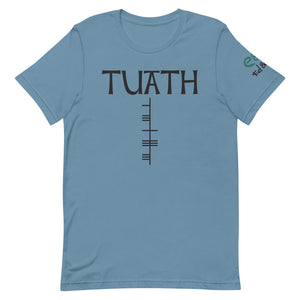 Túath - Short-Sleeve Unisex T-Shirt, Mauve, Steel BLue, Silver - Eel & Otter