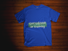 Load image into Gallery viewer, Gaeilgeoir Tee - Blue, Olive & Grey - Unisex Short Sleeve Jersey T-Shirt - Eel & Otter