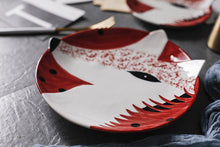 "Load image into Gallery viewer, Hare & Fox - 6"" or 8"" Hand Painted Ceramic Animal Dish - Eel & Otter"