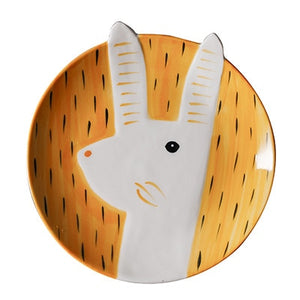 "Hare & Fox - 6"" or 8"" Hand Painted Ceramic Animal Dish - Eel & Otter"