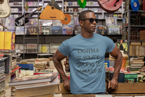 Ogma - If You're Sound... Short-Sleeve Unisex T-Shirt, Mauve, Steel Blue, Soft Cream - Eel & Otter