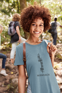 Ogham Series - Misneach - Courage - Short-Sleeve Unisex T-Shirt Siver, Pink, Steel Blue - Eel & Otter