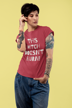 Load image into Gallery viewer, This Witch Doesnt  Burn! - Short-Sleeve Unisex T-Shirt - Black, Red, Forest - Eel & Otter