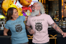 Load image into Gallery viewer, Cat Sidhe - Queen of the Cats - Short-Sleeve Unisex T-Shirt Soft Cream, Ash, Ocean Blue - Eel & Otter