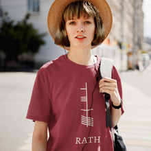 Load image into Gallery viewer, Ogham Series - Rath - Prosperity - Short-Sleeve Unisex T-Shirt Black, Navy, Red - Eel & Otter