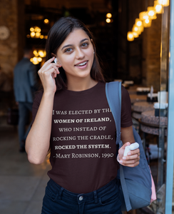The Women of Ireland, Rocked the System -Short Sleeve Unisex T-Shirt  Oxblood, Navy, Forest - Eel & Otter