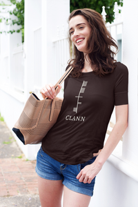 Ogham Series - Clann - Family - Short-Sleeve Unisex T-Shirt Ox blood, Navy, Forest - Eel & Otter