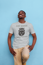 Load image into Gallery viewer, Cat Sidhe King of the Cats Short-Sleeve Unisex T-Shirt Mauve, Silver, Pink - Eel & Otter