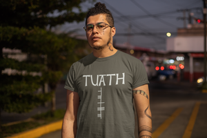 Tuath - Short-Sleeve Unisex T-Shirt Black, Army, Asphalt - Eel & Otter