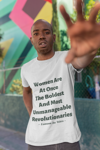 Women Revolutionaries - White, Cream & Ash - Unisex Short Sleeve Jersey T-Shirt - Eel & Otter