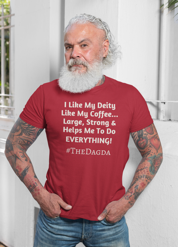 I Like My Deity... #TheDagda - Forest, Brown, Red, - Short-Sleeve Unisex T-Shirt - Eel & Otter