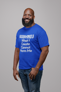 Goibhniu: What I Create - Red, Black & Royal Blue - Unisex Short Sleeve Jersey T-Shirt - Eel & Otter