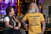 Load image into Gallery viewer, Dagda Good At It - White, Silver & Gold - Unisex Short Sleeve Jersey T-Shirt - Eel & Otter