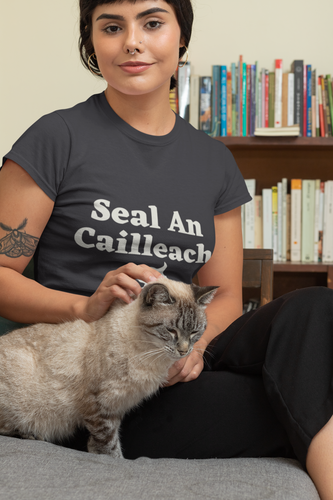 Seal an Cailleach - Black, Forest, Red -Short-Sleeve Unisex T-Shirt - Eel & Otter