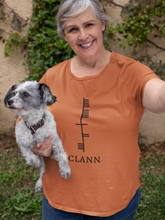 Load image into Gallery viewer, Ogham Series - Clann - Family - Short-Sleeve Unisex T-Shirt Burnt Orange, Lilac, Light Blue - Eel & Otter