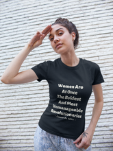 Load image into Gallery viewer, Women Revolutionaries - Brown, Olive & Navy - Unisex Short Sleeve Jersey T-Shirt - Eel & Otter