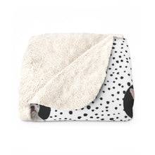 Load image into Gallery viewer, Spots - Custom Sherpa Fleece Blanket