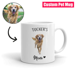 """Dog Mom"" Custom Pet Mug"