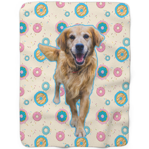 Donut - Custom Sherpa Fleece Blanket