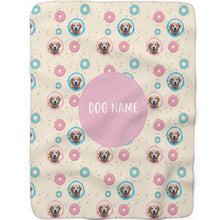 Load image into Gallery viewer, Donuts - Custom Sherpa Fleece Blanket