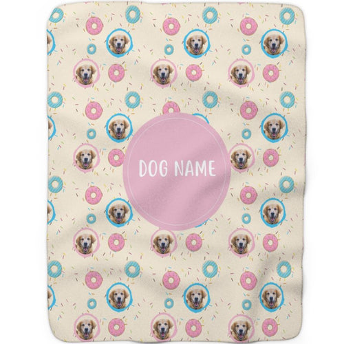 Donuts - Custom Sherpa Fleece Blanket