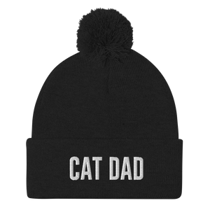 Cat Dad Pom-Pom Beanie