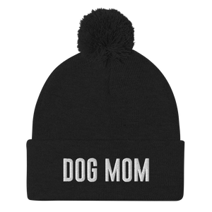 Dog Mom Pom-Pom Beanie