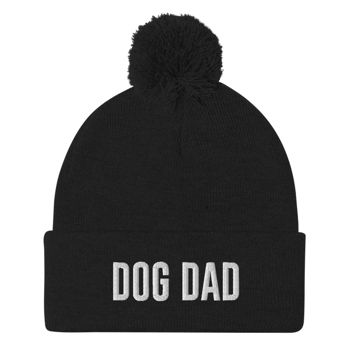 Dog Dad Pom-Pom Beanie